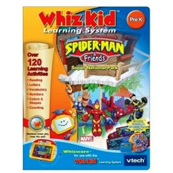 V Tech - Whiz Kid Learning System - Spider-Man & Friends - PC CD Game