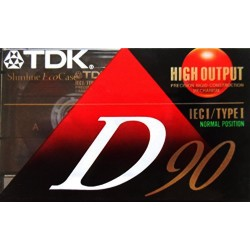 TDK D90 Audiocassette - IECI/TYPE I Normal Position