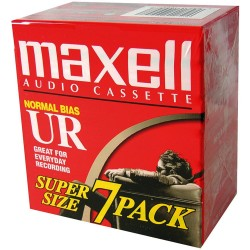 Maxell UR-90 Blank Audio Cassette Tape - 7 Pack