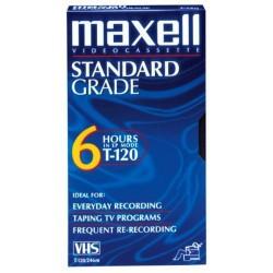Maxell VideoCassette Standard Grade 6-Hours