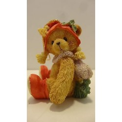 Cherished Teddies - Bear with Holly on Hat 951226