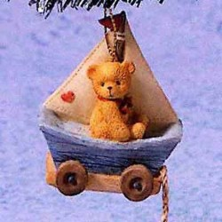 Cherished Teddies - Antique Toy Bear Sitting On Boat - Mini Figurine 537241