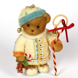 Cherished Teddies - Festive Bear with Candy Cane Ornament 4016868