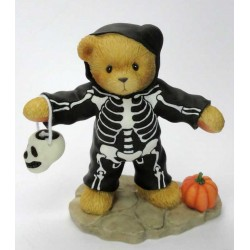 Cherished Teddies - Sullivan Boy Dressed As Skeleton Figurine 706760