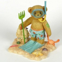 Cherished Teddies - Troy Boy With Snorkel Figurine 864366