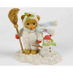 Cherished Teddies - Frankie Dressed in Snow Suit/Snowman Dated 2011 Figurine 4023733