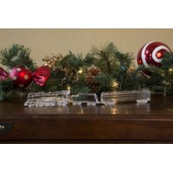 Hudson Locomotive Acrylic 3-Piece Train Mantle Set