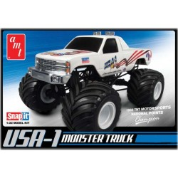 USA-1 4x4 Monster Truck w/Decals Plastic Model Truck Kit 1/32 AMT