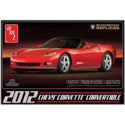 2012 Chevy Corvette Convertible Plastic Model Car Kit 1/25 AMT
