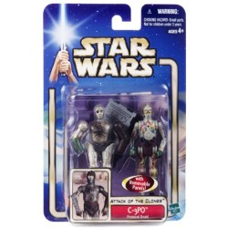 Star Wars Attack of the Clones Blue Card, C-3PO - Protocol Droid