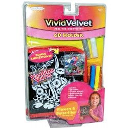 Vivid Velvet - Butterfly & Flower CD Holder