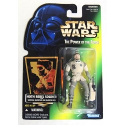 Star Wars The Power of the Force Green Card, Hoth Rebel Soldier with Hologram