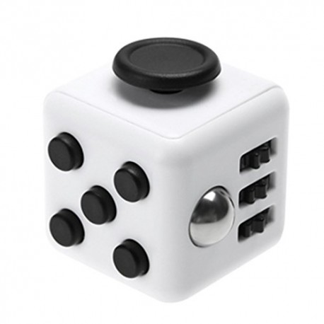 Fidget Cube Toy Stress Reducer (White/Black)
