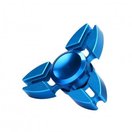 Fidget Spinner 'Crab' Toy Stress Reducer (Blue - Aluminum)