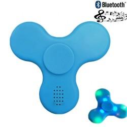 Fidget Spinner Toy Stress Reducer - Blue (BlueTooth Speaker & LED Lights)
