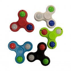 Fidget Spinner Toy Stress Reducer - (Assorted Colors - Lighted)