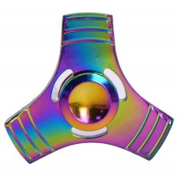 Fidget Spinner Toy Stress Reducer (Rainbow Leaf - Metal)