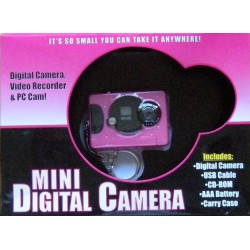 Mini Digital Camera: Digital Camera, Video Recorder & PC Cam!