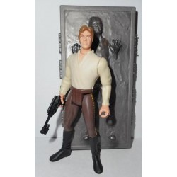 Star Wars The Power of the Force Green Card, Han Solo in Carbonite with Hologram