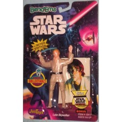 Star Wars Action Figure (Bend-Ems) Trading Card Enclosed - Luke Skywalker