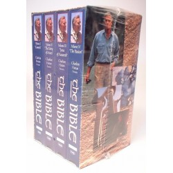 Charlton Heston Presents: The Bible, Original Collector's Edition, 4 Tapes (VHS)