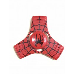 Fidget Spinner Toy Stress Reducer (Spiderman Red - Aluminum)