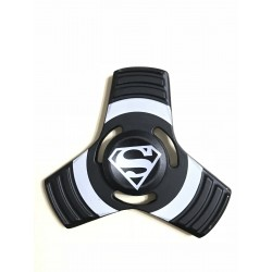Fidget Spinner Toy Stress Reducer (Superman Black - Aluminum)