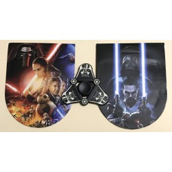 Fidget Spinner Toy Stress Reducer (Star Wars Darth Vader - Aluminum) with collector card