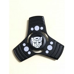 Fidget Spinner Toy Stress Reducer (Transformers Black - Aluminum)