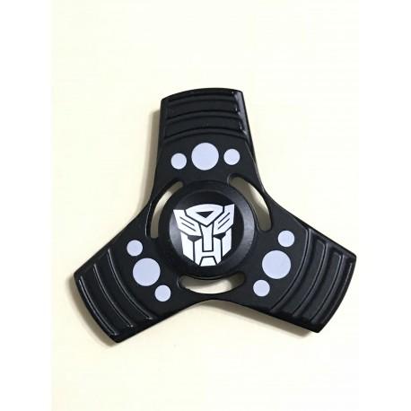 Fidget Spinner Toy Stress Reducer (Transformers Black - Aluminum)