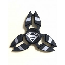 Fidget Spinner 'Crab' Toy Stress Reducer (Superman Black - Aluminum)