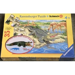 Land of the Crocodiles - Ravensburger 35 Piece Puzzle + Schleich