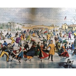 Central Park, Winter / The Skating Pond - White Mountain Puzzles 1000 Piece Puzzle