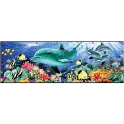 Dolphin Adventure - Great American Puzzle Factory 500 Piece Panorama Puzzle