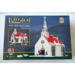 Country Church - Wrebbit 254 Piece Puzz-3D Puzzle