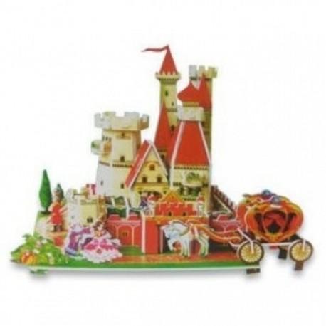 Fantastic Fortress: Cinderella - 3D 8 Piece Puzzle