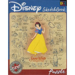 Disney Sketchbook: Snow White and the Seven Dwarfs - Buffalo Games, Inc 500 Piece Puzzle