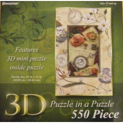 3D Puzzle in a Puzzle: Lisa Audit - Pressman 550 Piece Puzzle
