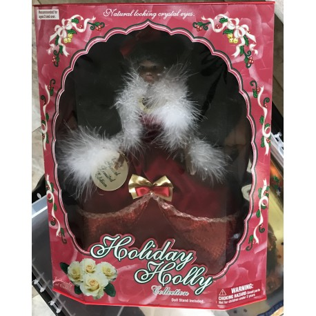 Natural looking crystal eyes doll - Holiday Holly Collection