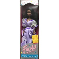 African American Doll in Purple Dress- Totsy Mfg No. 190622