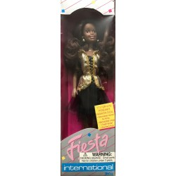 African American Doll in Gold/Black Dress- Totsy Mfg No. 190622