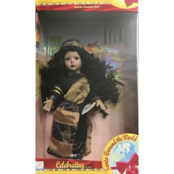 Africa Genuine Porcelain Doll - Santa Around the World No. 02580