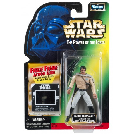 Star Wars The Power of the Force Green Card, Lando Calrissian with Freeze Frame Slide