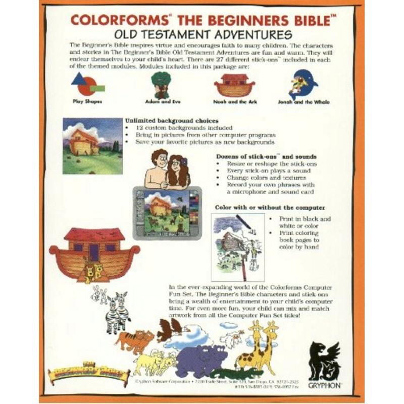 Colorforms The Beginner's Bible Computer Fun Set - Old Testament Adventures  1 (CD-Rom) - Arz Libnan