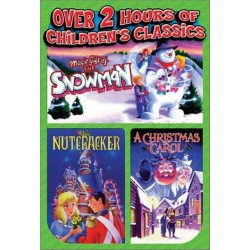 Holiday Animated Classics: A Christmas Carol, Magic Gift of the Snowman, The Nutcracker - 3 Tape Set (VHS)